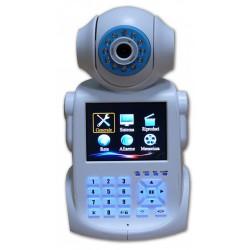 Network Phone Camera Sistema integrato di allarme, videotelefono, DVR, monitor da 3,6 pollici