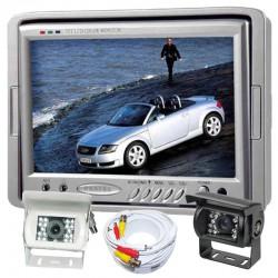 """Kit Retromarcia camper con monitor 7"""" e telecamera con 18 led 92° visuale"""