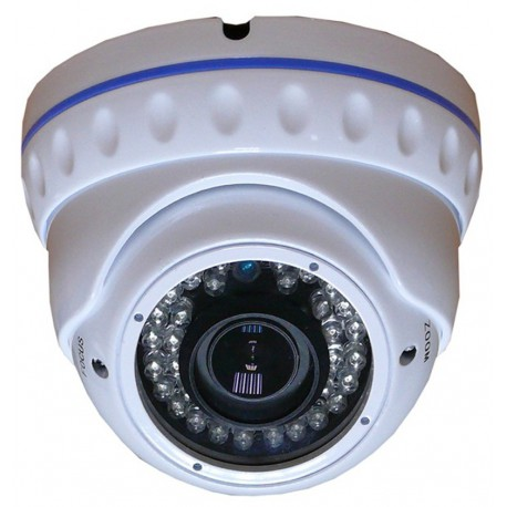 Dome CCD 1/3 Sony EFFIO Antivandalo varifocal focus e zoom regolabili 36 led infrarossi 700 linee tv