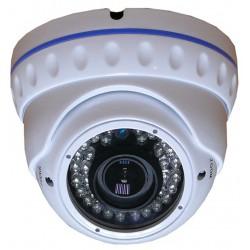 Dome CCD 1/3 Sony EFFIO Antivandalo varifocal focus e zoom regolabili 36 led infrarossi 700 linee tv