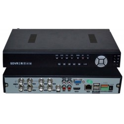 DVR 8 ch. video + 4 ch. audio FULL D1 compressione H.264