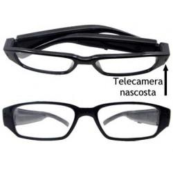 Occhiali spia con telecamera nascosta e batteria maggiorata, registrazione audio e video a colori