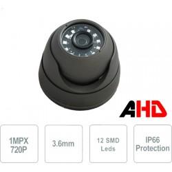 Telecamera AHD Dome antivandalo IP66 IK10 12 SMD LED IR 720P