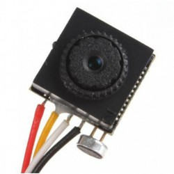 Telecamera Pin Hole CMOS 600 TVL micro obiettivo piatto con audio