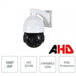 Telecamera Speed Dome AHD 2MPx, 18x, sensore 1/3 Panasonic, 4 Led Array invisibili