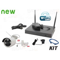 KIT VIDEOSORVEGLIANZA WIRELESS IP 8 CANALI