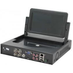 DVR 4 canali audio e video, tecnologia 5 in 1, 1080N con monitor 7 pollici
