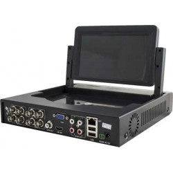 DVR 8 canali audio e video, tecnologia 5 in 1, 1080N con monitor 7 pollici