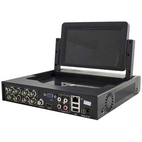 DVR 8 canali audio e video, tecnologia 5 in 1, 1080N con monitor 7 pollici