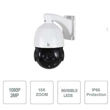 Telecamera Speed Dome 4in1, 2MPx, zoom 18x, sensore Sony, 6 Led Array invisibili