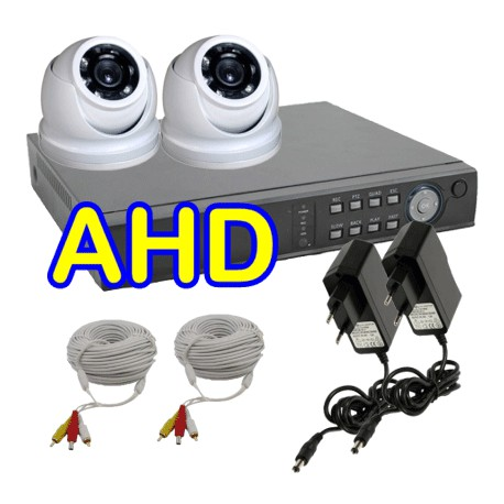 Kit video sorveglianza 2 Telecamere Dome AHD e DVR 5 in 1 FULL HD