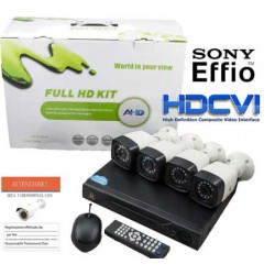Kit videosorveglianza 4 Cam Sony Starlight e DVR 5 in 1