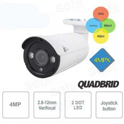Telecamera Bullet 4IN1, 4MPx, varifocale 2.8~12mm con 2 Led Array stagna IP67