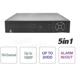 xMeye - DVR 5in1 16ch 1080N, 1080P FULL HD CLOUD, 2 HDD, ALLARME IN e OUT