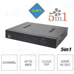 5 in 1 DVR ibrido 04 canali video + 4 canali audio, 1080N, Cloud