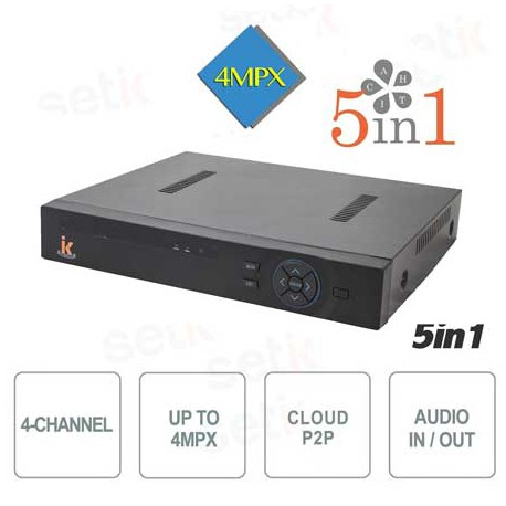 5 in 1 DVR ibrido 04 canali video + 4 canali audio, 1080N, Cloud