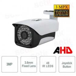 Telecamera Bullet 3MPx,ottica fissa 3,6mm, 48 led IR, stagna IP66