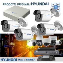 KIT 4 CANALI HYUNDAI - DVR + Telecamere HYU510 + HD Sata + GARANZIA 3 ANNI