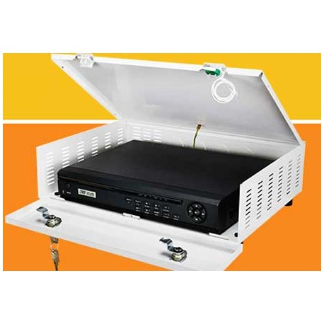 Contenitore in metallo per proteggere i DVR, dotato di tamper antisabotaggio e doppia serratura, I^ misura