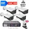 _Kit  DVR 5MPx con rilevamento viso + 4 telecamere 5MPx Sony + hard disk omaggio