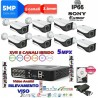 Kit  DVR 5MPx con rilevamento viso + 8 telecamere 5MPx XVI + hard disk omaggio