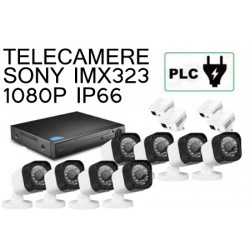 KIT 8 CANALI BULLET 1080P PLC POWER LINE SU PRESA ELETTRICA