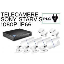 KIT 4 CANALI BULLET 1080P PLC POWER LINE SU PRESA ELETTRICA