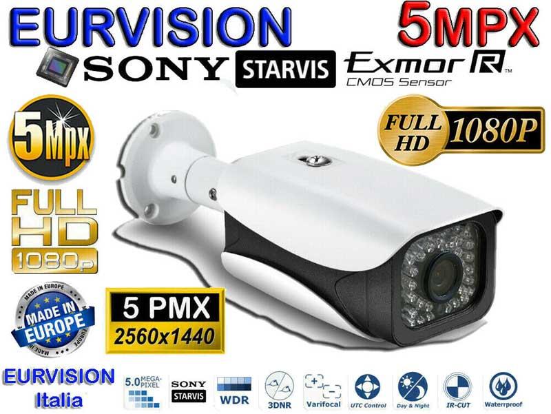 Kit DVR 5MPx con rilevamento viso + 4 telecamere 5mpx Sony + hard disk