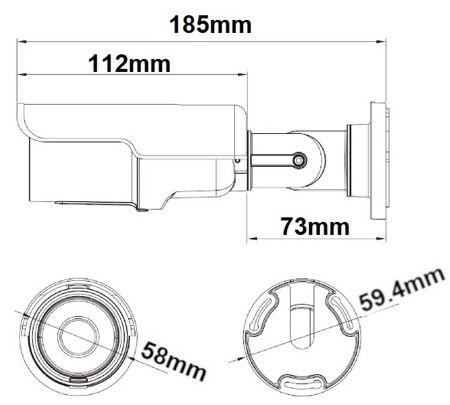 Telecamera Bulletottica fissa Sony Starvis IMX326 5MPx 2592x1944 OSD MENU 4in1 5MPx IP66